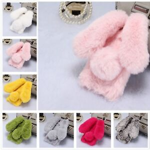 size 40 80518 224e8 Details about Soft Fluffy Furry Rabbit Design Cute Back Case Cover For  iPhone 5/5s/6s/7/8 Plus