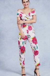 92ee4ffbfd coast   next size 16 denise floral print bardot style jumpsuit bnwt