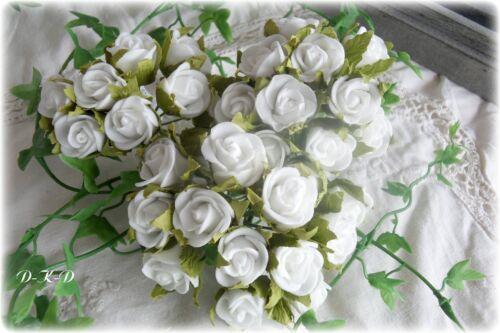144 Roses Blanc Mariage Décoration de table communion baptême Streudeko litière roses