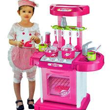 Portatile Rosa Elettronico Bambini Ragazzi Cucina Cottura Giocattolo Set Gioco