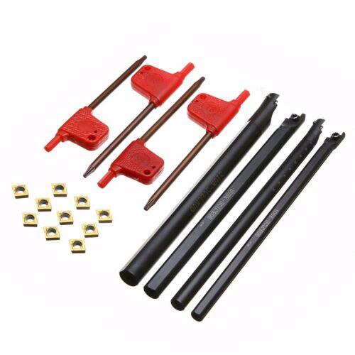 10x CCMT060204-HM Hartmetalleinsätze Mit 4x 6//7//8//10mm SCLCR06 Bohrstange Halter