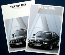 Prospekt brochure 1990 BMW 730i  735i  735iL  + Colours/Upholstery  (GB)