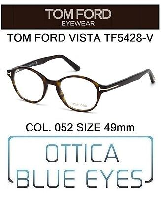 Aspirante Occhiali Da Vista Tom Ford Tf5428v 052 49mm Eyeglasses Brillen Ft Havana Italy