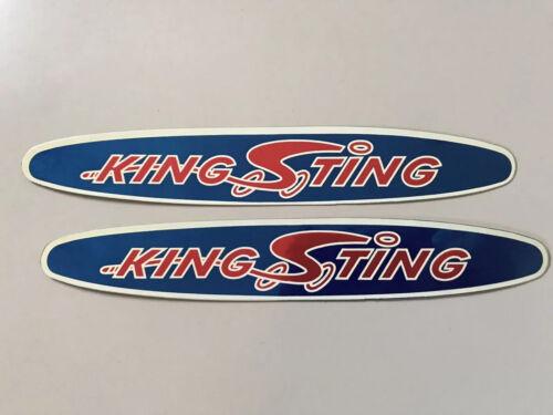 King Sting original NOS downtube decals Schwinn BMX DriMark stickers