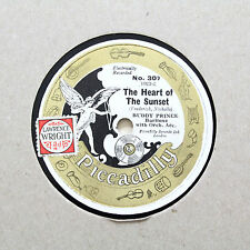 """BUDDY PRINCE """"The Heart Of The Sunset / Just Plain Folk"""" PICCADILLY 307 [78 RPM]"""