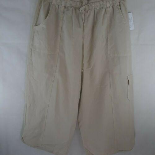 Karen Scott Edna Capri Lightweight Cotton Drawstring Waist WP-140