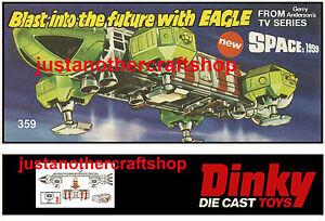 Dinky-Toys-359-Eagle-Transporter-Large-Poster-Advert-Leaflet-Sign-Space-1999