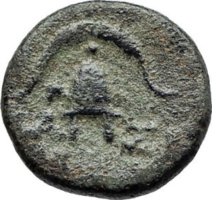 DEMETRIOS-I-Poliorketes-MACEDONIA-King-Shield-Helmet-Ancient-Greek-Coin-i75528