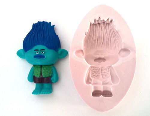 SILICONE MOULD TROLLS BRANCH BIRTHDAY ICING CAKE CUPCAKE FIMO