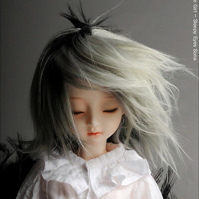 Mohair Long Style Wig 7-8 White MSD Wig 7-8 inch 18-20cm 1//4 BJD DM