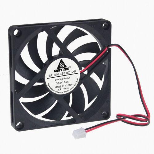 5pcs 80x80x10mm 80mm DC 5V Brushless PC Computer Cooler Cooling Fan Sleeve Brg