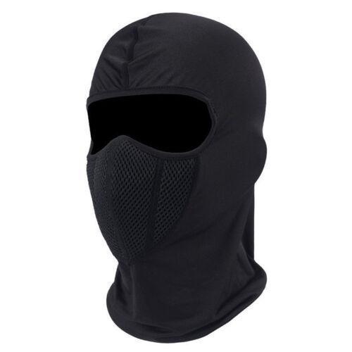 Cold weather Balaclava Windproof Ski Fleece Hood Face Mask Motorcycle Hat Black