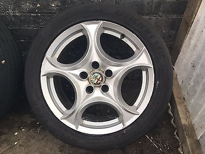 "ALFA ROMEO BRERA SPIDER 17"" ALLOY WHEEL WITH GOOD YEAR / HANKOOK TYRE 60695011"