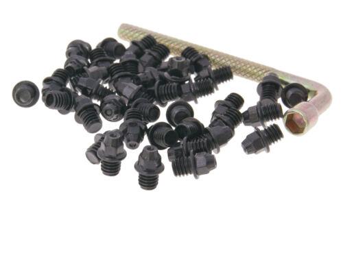 N 8 attrayants Remplacement Pin Set Acier m4x4 40 pièces pointu pièce de rechange Flat Pédales flatpedal