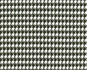 Drapery Upholstery Fabric Cotton Small Houndstooth Print Black On