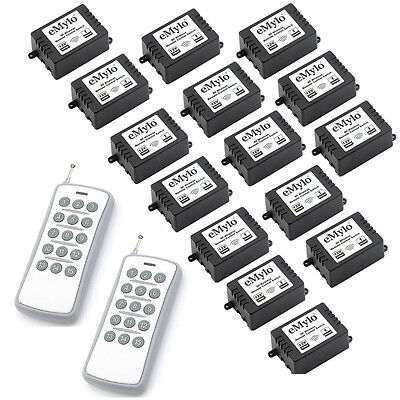 12V 10A 15X1CH RF Remote Control Switch for Home Industrial 2 Transmitter