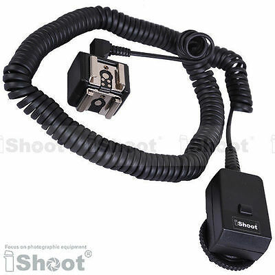 PT-04 T II Flash Trigger—Dual Hot Shoe Mount Adapter&Sync Cable/Cord Transmitter