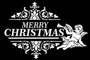 Shabby chic vintage stencil pochoir Christmas meubles mur textile rideaux  </span>
