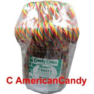 Grosse-Zuckerstangen-Spangler-Eimer-mit-160-BIG-Candy-Canes-CHERRY-24-55-kg
