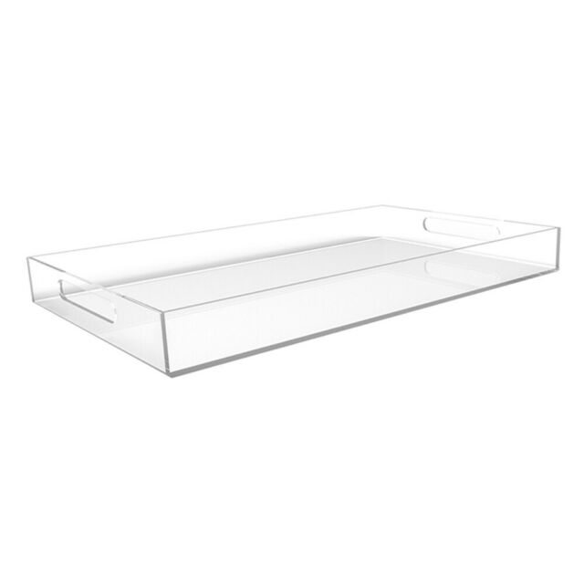 Vale Arbor Large Serving/Coffee Table Tray  - Clear