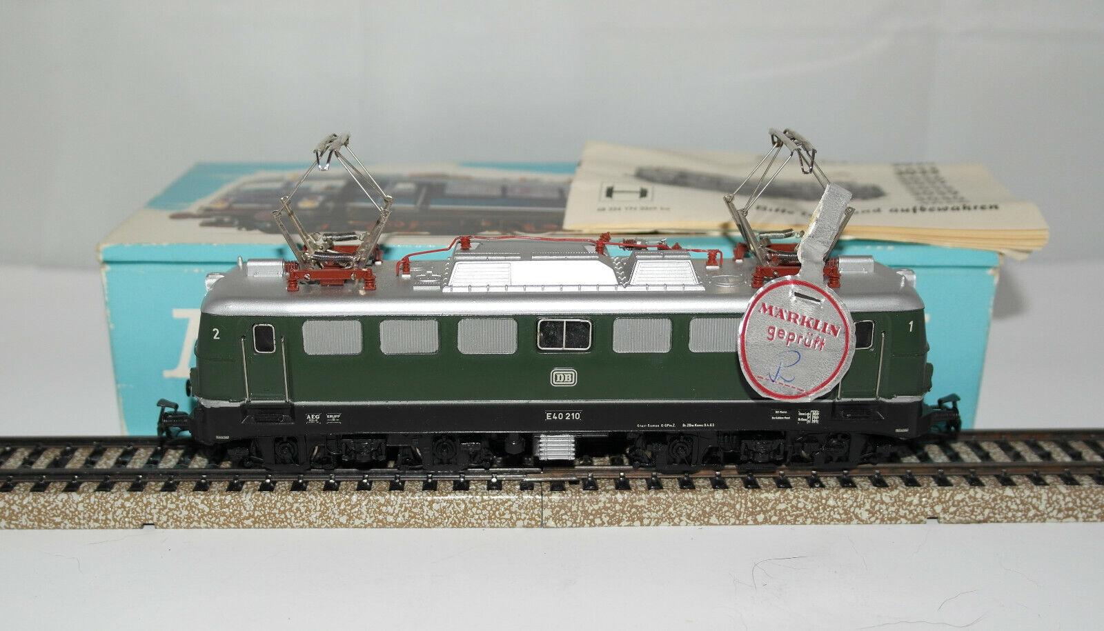 オリジナルの箱で優れたマークリンH 0:3040ロコLetelica DB BR E 40:1966