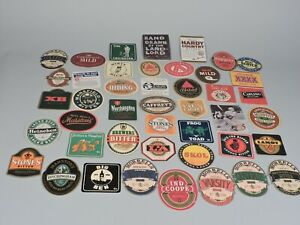Collection-of-UK-Ale-amp-Beer-Bar-Coasters-Lot-of-44