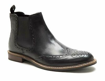red tape downton shoe oxford chelsea black leather boots