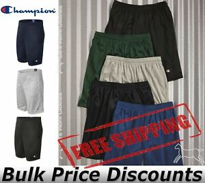 Champion-Mens-Mesh-Sport-Shorts-Workout-with-Pockets-9-034-Long-S162-up-to-2XL