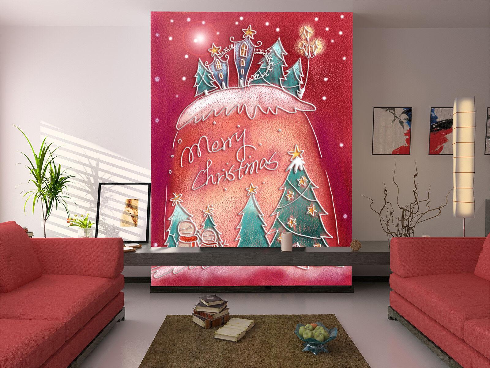 3D Merry Christmas 753 Wall Paper Murals Wall Print Wall Wallpaper Mural AU Kyra