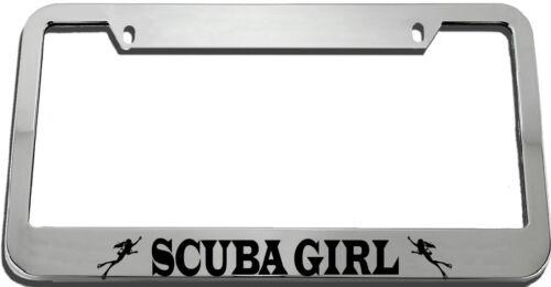 Scuba Girl License Plate Frame Tag Holder