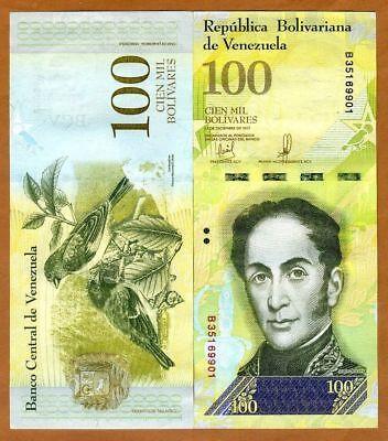 P-100 Bunlde 100 pcs Serie-C Venezuela 100,000 Bolivares 2017