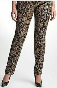 Seven 7 Skinny Jeans Para Mujer Pantalones Tamano 10p Negro Oro Precio De Venta Sugerido Por El Fabricante 79 Ebay