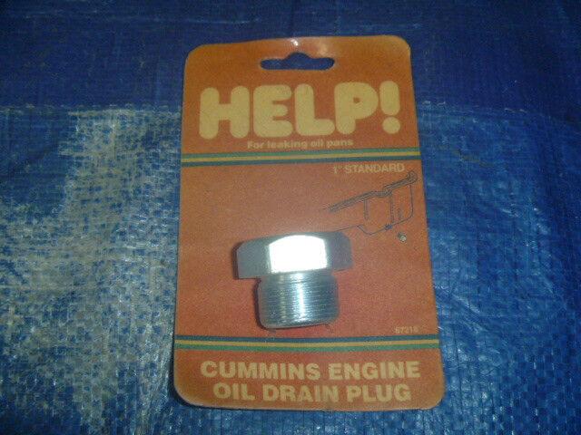 New Cummins Genuine 0102-1237 Oil Drain Adapter