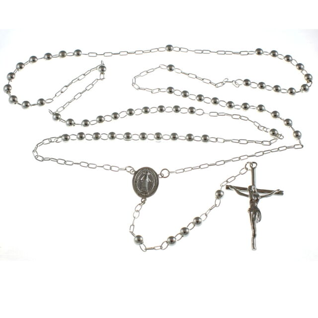 Sterling Silver Rosary Beads Fully Hallmarked With Miraculous