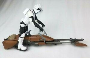Star-Wars-POTF-Speeder-Bike-with-Endor-Scout-Trooper-18-5-034-Long-Hard-to-Find