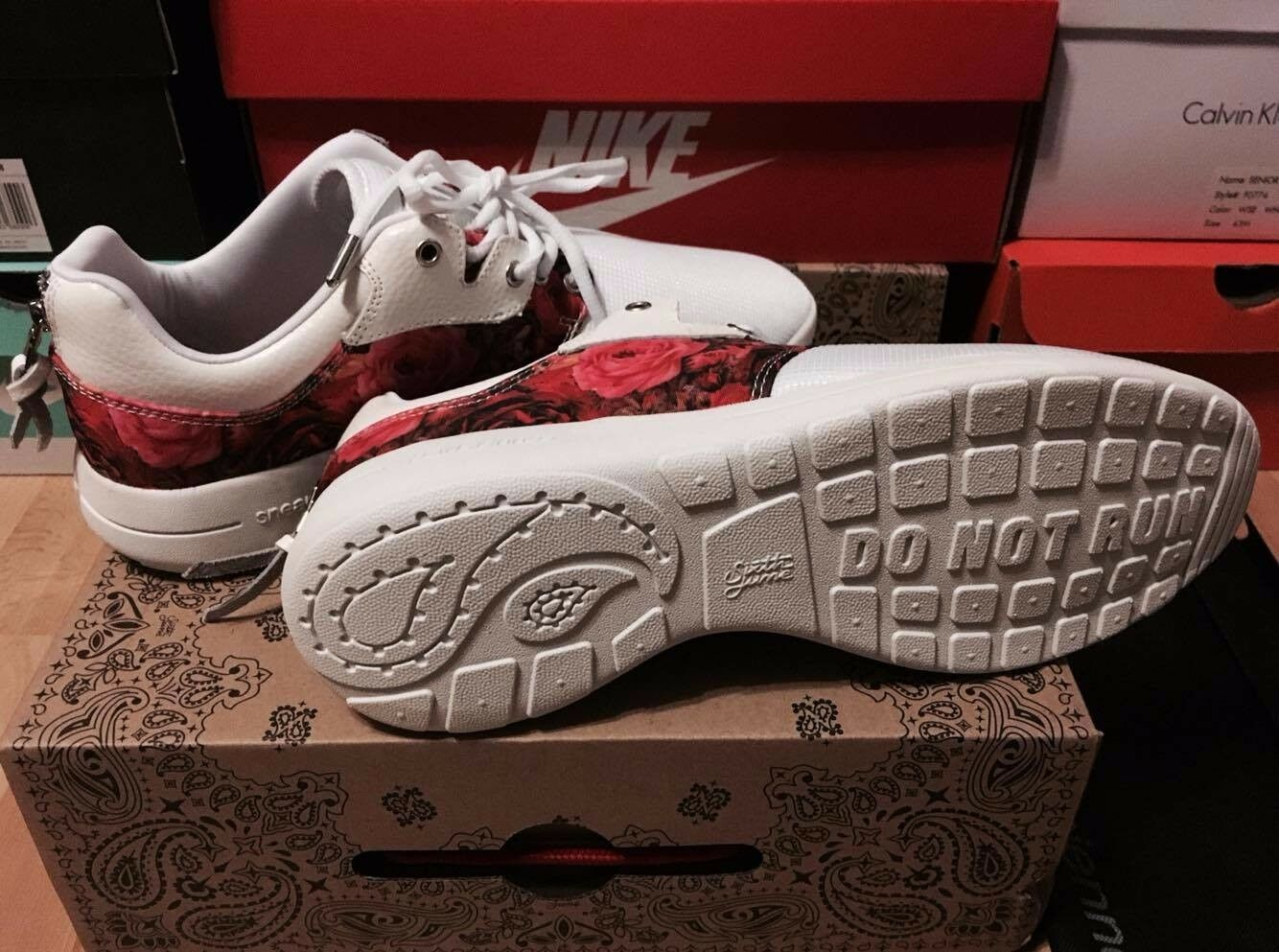 Sixth June Sneakers EUR42 Weiß White Flower DEADSTOCK!