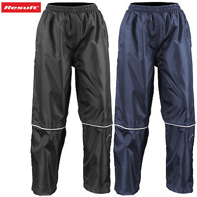 Result Adults Wind Waterproof Over Pro Coach Trousers Outdoor Workwear Pant New SchöN Und Charmant