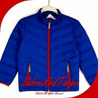 Hanna Andersson Warm Up In Down Superlight Jacket Coat Brilliant Blue 120 7