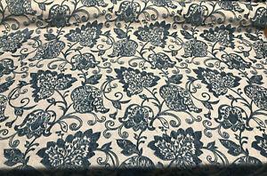 Renaissance-Chenille-Deep-Teal-Blue-Italian-Cut-Upholstery-Fabric-by-the-yard