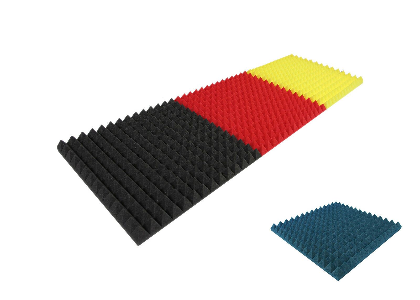 °°° Acoustic sound insulation foam pyramids new Farbe made in germany °°°