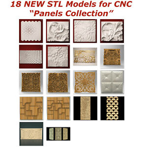 18-NEW-Panels-3d-STL-Models-for-CNC-Router-3d-Printer-Artcam-Aspire-Cut3d