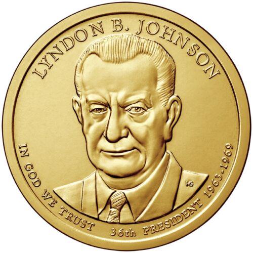 "Presidential Dollar Uncirculated Roll 25 /"" D /"" Mint #36 2015 Lyndon B Johnson"