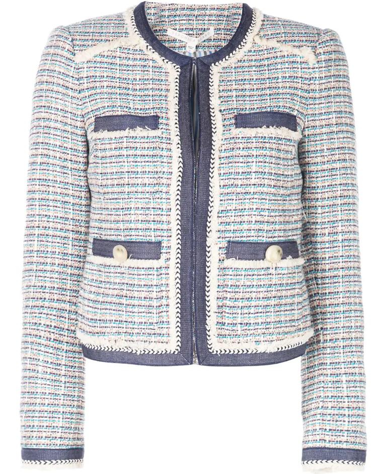2019 nueva chaqueta de tweed auténtica Veronica  barba con bucles Multi Color 4 6 10  barato
