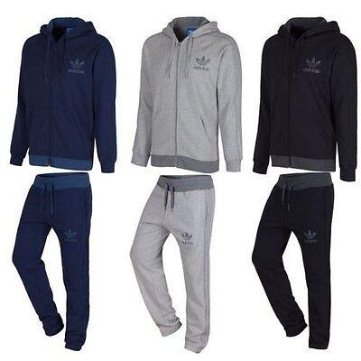 Adidas Original Spo Trainingsanzug Marineblau Grau Schwarz S M L XL Jogger Vlies | eBay