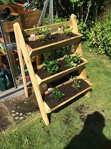 Image Is Loading Garden Trough 3 Tier Strawberry Herb Flower Planter