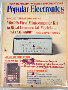 Rare Popular Electronics January 1975 Altair Introduction Issue Very collectible