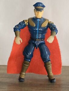Gi Joe Street Fighter Movie M Bison Action Figure Blue With Red