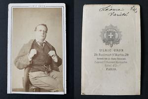 Grob-Paris-Leonce-acteur-Vintage-albumen-print-CDV