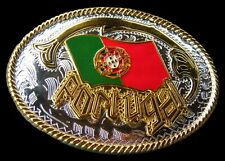 Portugal Portuguese Flag Lisbon Porto Soccer Team Belt Buckle Boucle de Ceinture