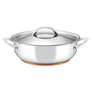 Essteele Per Vita 28cm 5.2L Sauteuse Induction Stainless Steel Silver With Lid